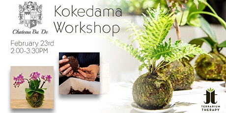 SOLD OUT Orchid  Kokedama /Jade Kokedama Workshop at Chateau Bu De Winery tickets