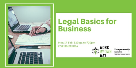 Legal Basics for Business Workshop tickets