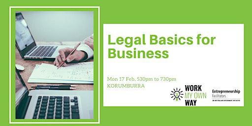 Legal Basics for Business Workshop