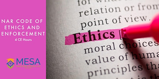 NAR Code of Ethics and Enforcement