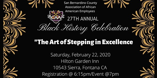 SBCAAAE  Annual Black History Month & Scholarship Recognition Celebration