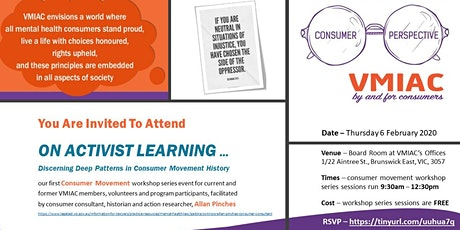 ON ACTIVIST LEARNING -Discerning Deep Patterns in Consumer Movement History tickets