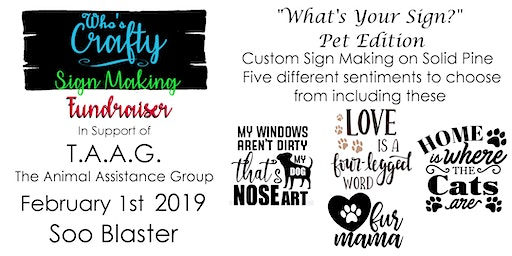 Who's Crafty SSM - Whats Your Sign Pet Edition  -