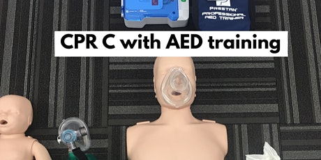 CPR C- all levels with AED training and First Aid option tickets