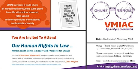 ON HUMAN RIGHTS - Mental Health Issues, Advocacy and Prospects for Change tickets