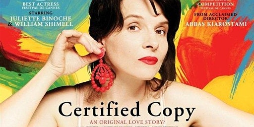 Kanopy Film Club: Certified Copy - Forster