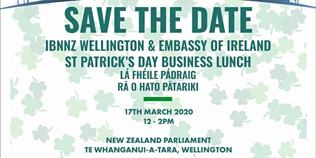IBNNZ Wellington St Patricks Business Lunch  tickets