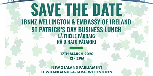 IBNNZ Wellington St Patricks Business Lunch