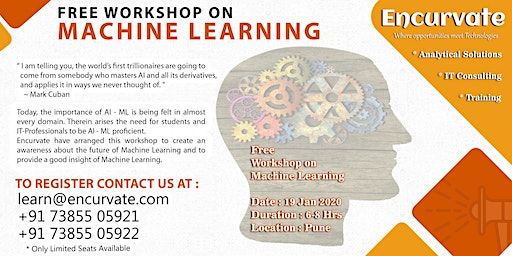 Free Workshop on Machine Learning in Pune by Encurvate Technologies
