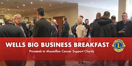 Wells Big Business Breakfast tickets