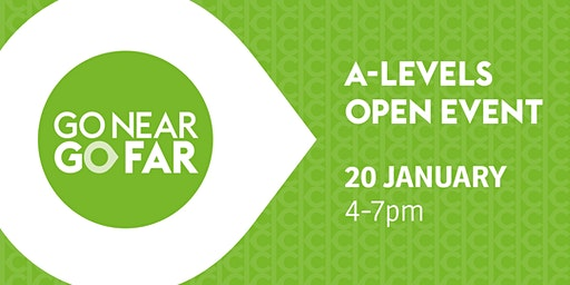 Keighley College A Level Open Event - Monday 20 January 2020