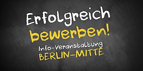 Bewerbungscoaching Infoveranstaltung AVGS Berlin Mitte (Nachmittag) Tickets