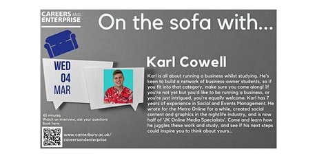 On the sofa with... Karl Cowell tickets