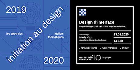 Initiation au design d'interface (UX-UI) tickets
