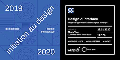 Initiation au design d'interface (UX-UI)
