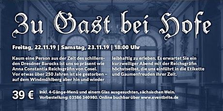 Zu Gast bei Hofe mit Gräfin Cosel Tickets