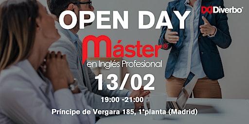Open Day Máster en Inglés Profesional Diverbo - 13 Febrero