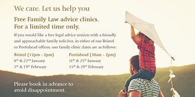 Free Family Law Advice Clinic in Bristol - Wed 22nd January