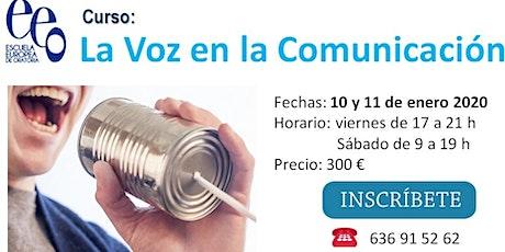 Curso La Voz en la Comunicación entradas