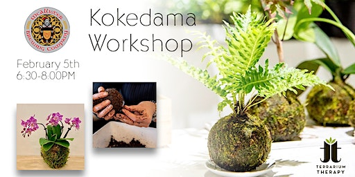 Kokedama Workshop with Orchid and Jade at McAllister Brewing Company