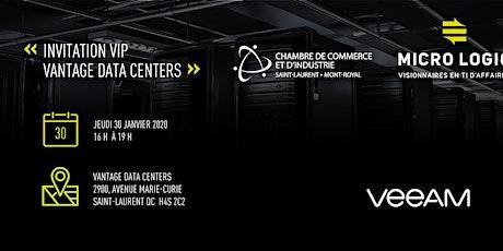 Visite suivi d'un 5 à 7 réseautage chez Vantage Data Centers billets