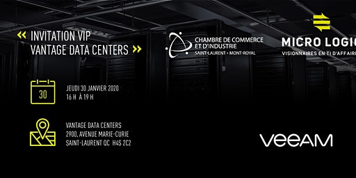 Visite suivi d'un 5 à 7 réseautage chez Vantage Data Centers