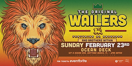 THE ORIGINAL WAILERS  W/ BROTHERS WITHIN- DAYTONA BEACH (Oceanfront) tickets