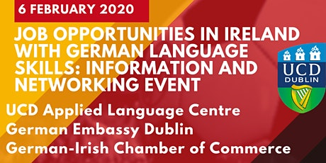 Job opportunities in Ireland with German language skills: information and networking event tickets
