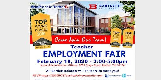 2020 Bartlett City Schools Teacher Employment Fair