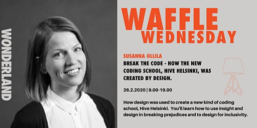 Waffle Wednesday: Crack the code - How the New Coding School, Hive Helsinki, was created by design