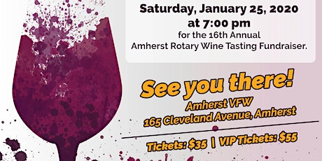 The 16th Annual Amherst Rotary Wine Tasting tickets