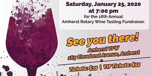 The 16th Annual Amherst Rotary Wine Tasting