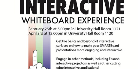 Interactive Whiteboard Experience 4/3/20 tickets