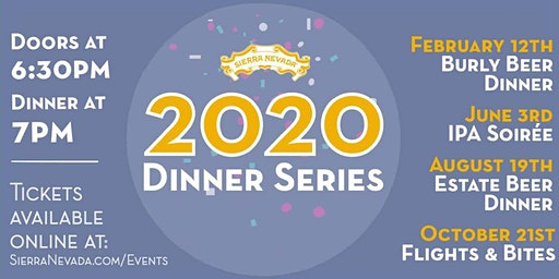 Sierra Nevada Mills River 2020 Beer Dinner Series: Estate
