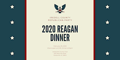 Iredell County Republican Party 2020 Reagan Day Dinner