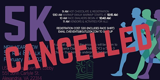 CANCELLED-New Year, New You! 5k Run/Walk at the City of Alexandria