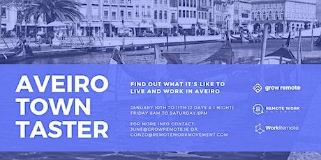 Grow Remote Town Taster: Aveiro Portugal bilhetes