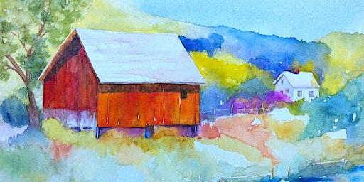 Artbarn at Le Farm - Watercolour Workshop