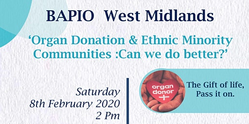 Organ Donation & Ethnic Minority Communities-Can we do better?