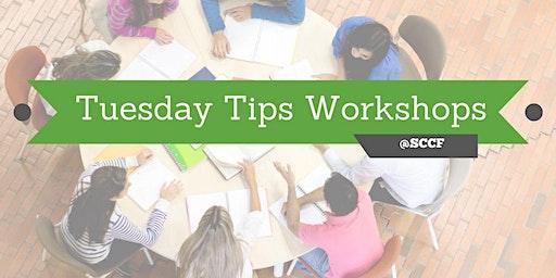Tuesday Tip Workshop: Non-Profit Management