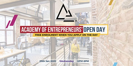 Academy of Entrepreneurs' Open Day (Jan 2020) tickets