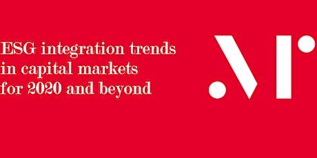 ESG integration trends for 2020 - Calgary AB tickets