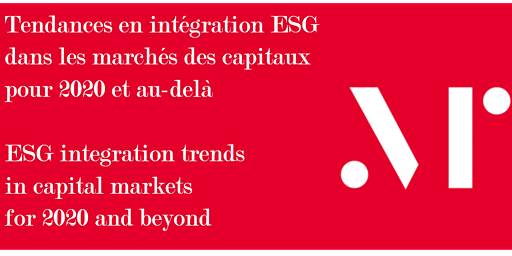 Tendances en intégration ESG pour 2020 / ESG integration trends for 2020 - Montreal, QC