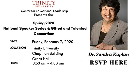 Spring 2020 National Speaker Series & Gifted and Talented Consortium