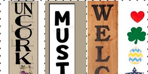 Reversible Wood Planks & Wine