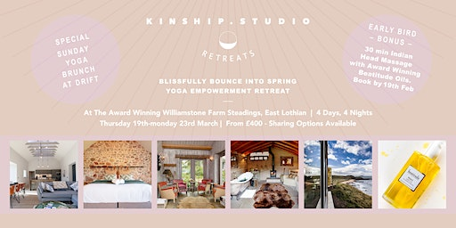 Blissfully Bounce in Spring Yoga retreat
