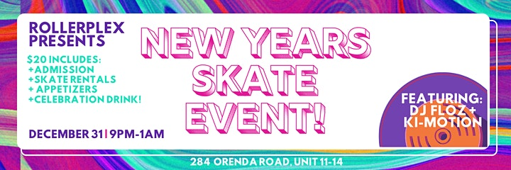 New Years Eve Roller skate Countdown image