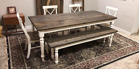 Build your own farmhouse dining table tickets