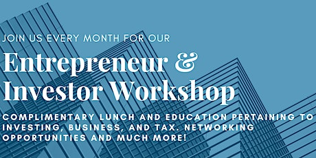 Entrepreneur and Investor Series - July 29th tickets