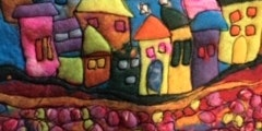Wobbly Town - Beautiful Wet Felted Panel Workshop